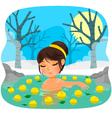 yuzu bath vector image vector image