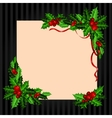 Christmas vintage card with holly vector image