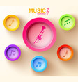 abstract music design concept vector image