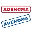 Adenoma Rubber Stamps vector image vector image