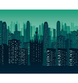 Background of night city vector image vector image