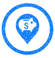 bank pointer rounded grainy icon vector image vector image