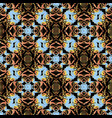 baroque seamless pattern damask colorful vector image