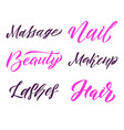 beauty typography square poster lettering vector image vector image