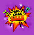 big xmas sale banner on colorful half tone dotted vector image