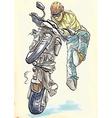 biker vector image vector image