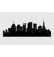 Black and white sihouette of big city skyline vector image vector image