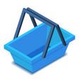 blue shopping basket icon isometric style vector image vector image