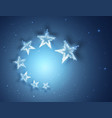 blue stars abstract background for your design vector image