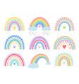 boho rainbow set vector image vector image
