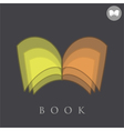 Book logo concept sign vector image