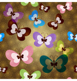 Brown seamless spring pattern vector image vector image