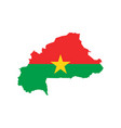burkina faso flag and map vector image vector image
