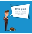 business man and dialog bubble vector image vector image