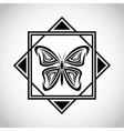 butterfly tattoo animal design vector image vector image