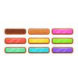 cartoon wooden long horizontal buttons vector image vector image