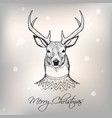 Christmas deer vector image