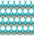 christmas santa claus and deer seamless pattern vector image vector image