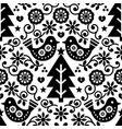 christmas scandinavian seamless pattern vector image