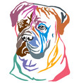 colorful decorative portrait of dog bullmastiff vector image vector image
