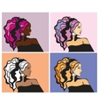 Colorful women portraits vector image