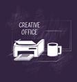 creative office design vector image