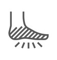 diabetic foot line icon vector image