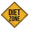 diet zone vintage rusty metal sign vector image vector image