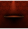 Empty shelf red luxury vector image vector image
