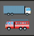fire truck car isolated vector image vector image
