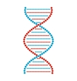 Flat DNA and molecule sign vector image vector image