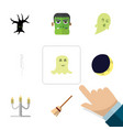 flat icon celebrate set of spirit terrible vector image vector image