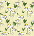 floral pattern with chamomiles and green vector image vector image