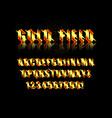 golden alphabet vector image vector image