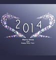 happy new year 2014 horse celebration background vector image