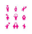love valentine icons vector image