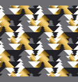 luxury geometric christmas tree seamless pattern vector image vector image