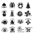 Merry christmas icons set vector image vector image