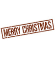 merry christmas stamp vector image vector image