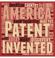 Patents American Greatness text background vector image vector image