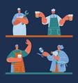 plumber pub bartender vector image vector image