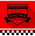Racing stamp-14 vector image vector image