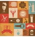 Retro beer icons set vector image vector image