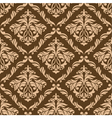 Retro brown seamless background vector image vector image