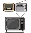 Retro Television and Radio vector image vector image