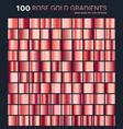 rose gold gradientpatterntemplateset of colors vector image vector image
