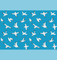 seagulls seamless pattern cartoon gull flying vector image