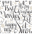 seamless pattern with christmas letterings vector image vector image