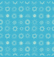 seamless pattern with doodle sun on blue vector image vector image