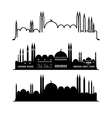 Set of mosque sketches city design vector image vector image